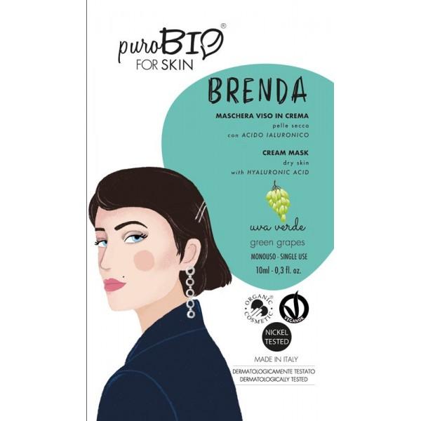 Maschera Viso Brenda Uva - Purobio