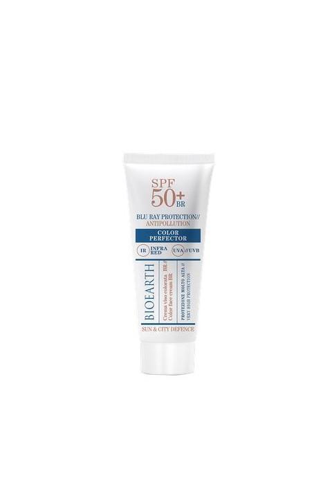 Crema Viso SPF 50+ Color perfector - Bioearth