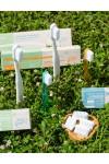 Spazzolino fibra vegetale setole medie - La Saponaria
