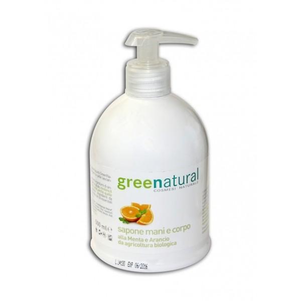 Detergente Delicato Mani e Corpo - Menta e Arancio 500 ml - Greenatural