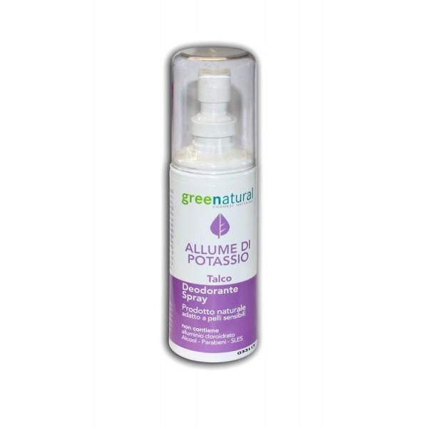 Deodorante Spray all'Allume di Potassio - Talco - Greenatural