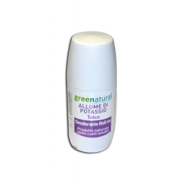 Deodorante Roll on - Allume di Potassio Talco - Greenatural