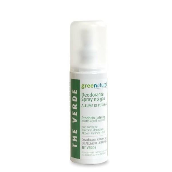 Deodorante Spray No Gas Allume di Potassio - Tè Verde - Greenatural