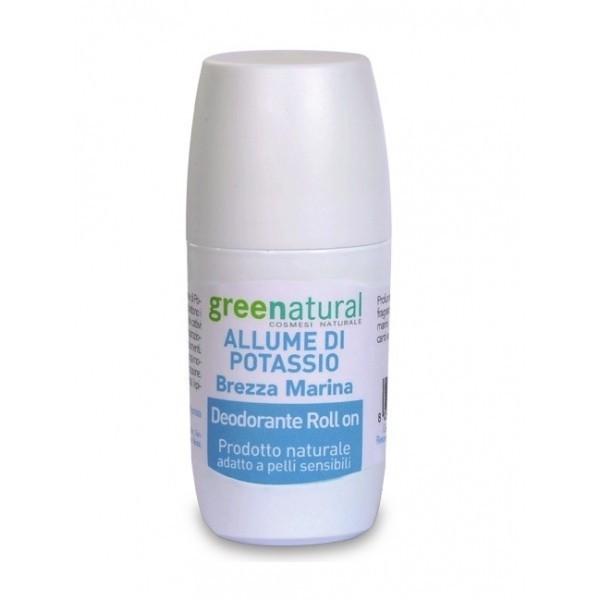 Deodorante Roll On Allume di Potassio - Brezza Marina - Greenatural